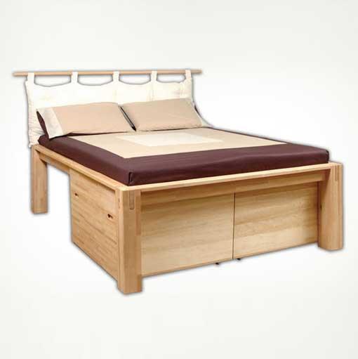 Hil bed maxi in legno naturale