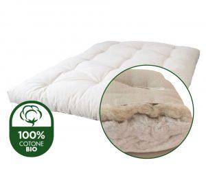 futon materasso cotone biologico certificato e lana